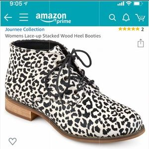 🐯 Journee Collection Animal Print Booties